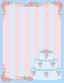 ημέρα του αγίου βαλεντίνου πλαίσιο με γλυκά cupcake για σχεδιασμό — Διανυσματικό Αρχείο