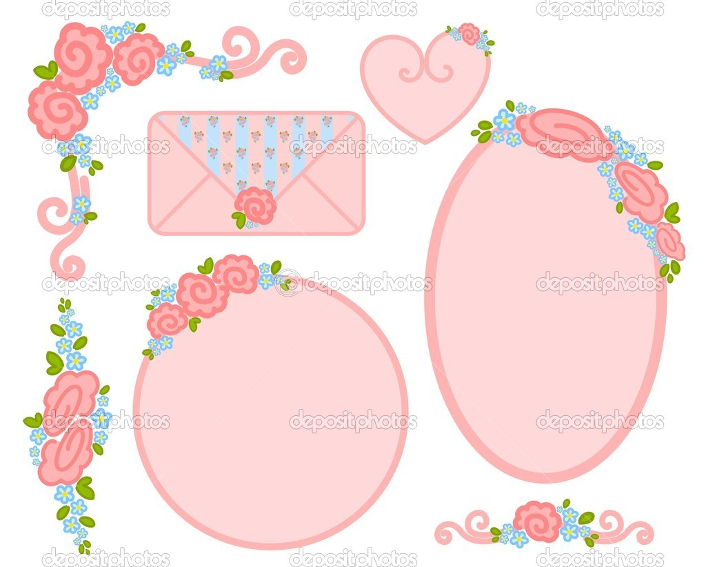 Vector set of valentines day postage stamps — Stock Vector #7391340