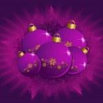 Christmas ball on a background — Stock Vector