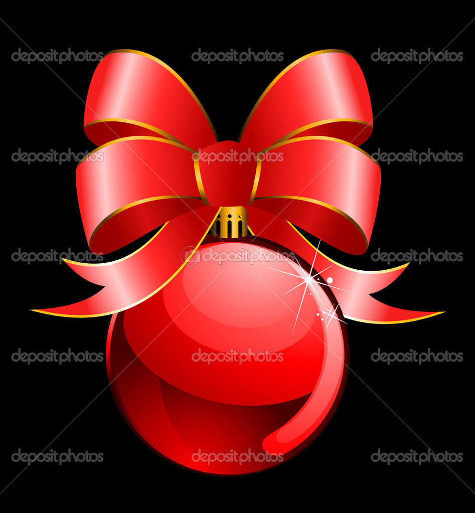 Christmas balls on a black background — Stock Vector #7468569