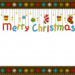 Beautiful Christmas background with snowflakes. Vector — Foto Stock