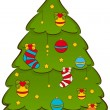 Cartoon Christmas fir-tree. Vector illustration — Stock Photo #7902185