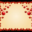 Beautiful Christmas frame with balls. Vector — Stock Photo