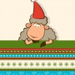 Cartoon funny SantClaus sheep. Vector Christmas illustration — Stock Photo #7902417