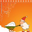 Christmas funny sheep with snow. Vector — Stock Photo #7902535