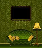 Beautiful classical interior for design. — Stock Photo