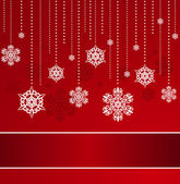 Decorative Snowflakes. Vector background — Stock Photo