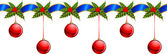 Beautiful Christmas garland — Stock Photo