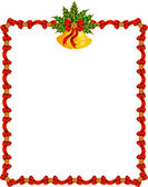 Beautiful Christmas background with garland and bells. Vector — Stock Photo