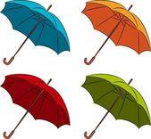 Vector umbrella with wallpaper design — Stock Photo