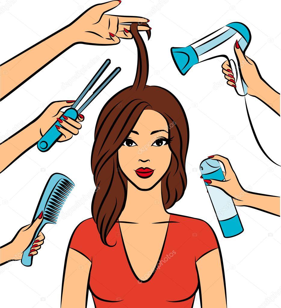 Рисунки на тему парикмахеры