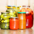 Pickled canned vegetables — Stock Photo