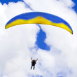 Parachuter descending — Stock Photo #6875258