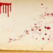 Old book texture page and blood — Stock Photo