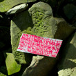 Stock Photo: Buddhist prayer stones with mantra