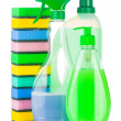 Foto Stock: House cleaning supplies