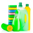 House cleaning supplies — Stock Photo