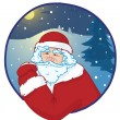 Portrait of santa — Stock Vector