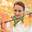 Autumn portrait of a business woman — Foto Stock