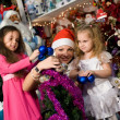 Santa Claus at a party for children — Stock Photo #7542089