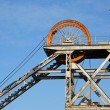 Mine shaft headgear - Stockfoto