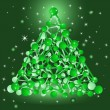 Royalty-Free Stock Imagem Vetorial: Vector christmas tree consisting of molecular structure