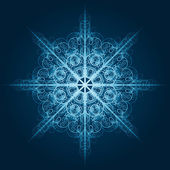Vector highly detailed blue snowflake — Stock Vector