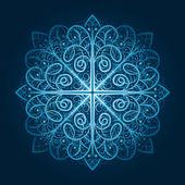 矢量高度详细的蓝色雪花 — 图库矢量图片