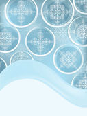 Cartolina postale vettoriale con fiocchi di neve — Vettoriale Stock