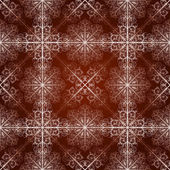 Vector seamless pattern with highly detailed snowflakes — Vector de stock