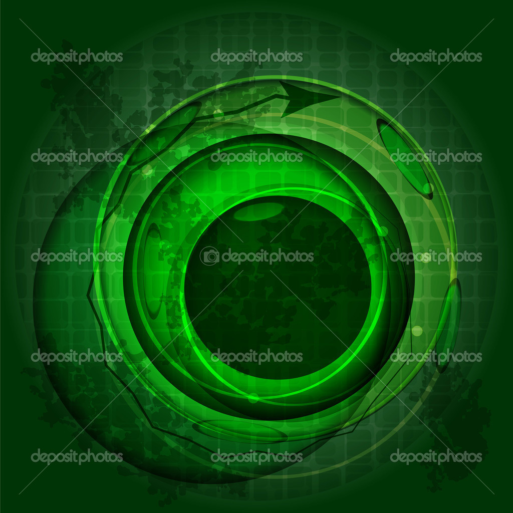 Eps 10, vector abstract eye pupil in green — Stock Vector #6949300