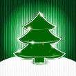 Vector christmas tree on abstract grunge background with stripes — Vecteur #7344495