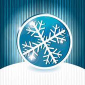 вектор снежинка на абстрактных гранж-фон с полосами — Cтоковый вектор