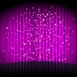 Vector  purple background with  stripes and stars - Stok Vektör