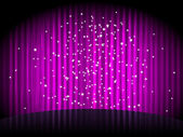 Vector purple background with stripes and stars — Stock Vector