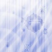 Kış kar taneleri ve yıldızlar arka plan üzerinde vektör köknar ağacı — Vector de stock