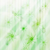 Vector winter background with snowflakes and stars — Stock Vector