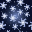 Vector seamless christmas background with paisley snowflakes and - Imagen vectorial