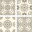 Vector set of seamless vintage patterns — Stock vektor