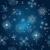 Bezszwowe tło wektor z płatki śniegu na zimowe niebo — Wektor stockowy