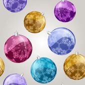 Vector seamless pattern with shiny christmas balls — Vettoriale Stock