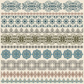 Vectorten seamless vintage border pattern — Stock Vector