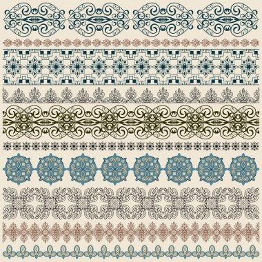 Vectorten seamless vintage border pattern