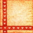 Stock Photo: Valentine's scrap-book background