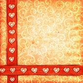 Valentine's scrap-book background — Foto de Stock