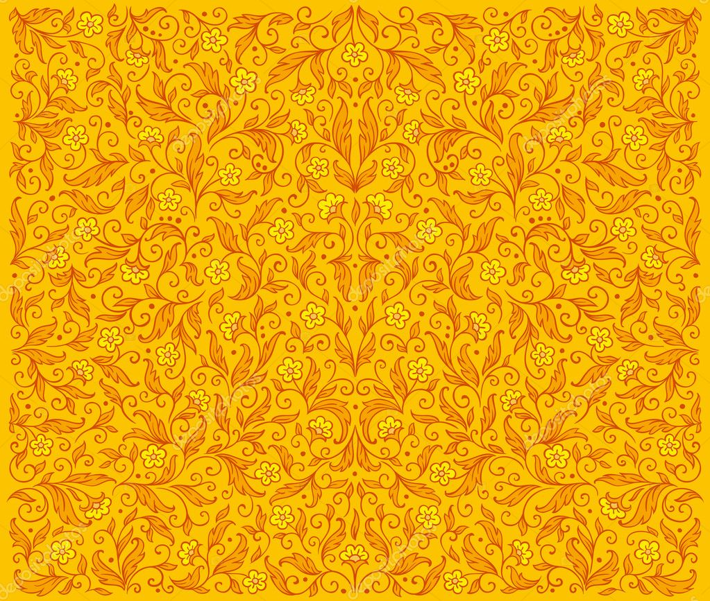 yellow floral pattern - photo #32