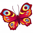 Royalty-Free Stock Vector Image: Red vector butterfly