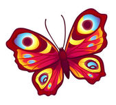 Red vector butterfly — Stock Vector