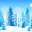 Winter vector landscape — Stock Vector
