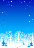 Winter night background — Vector de stock